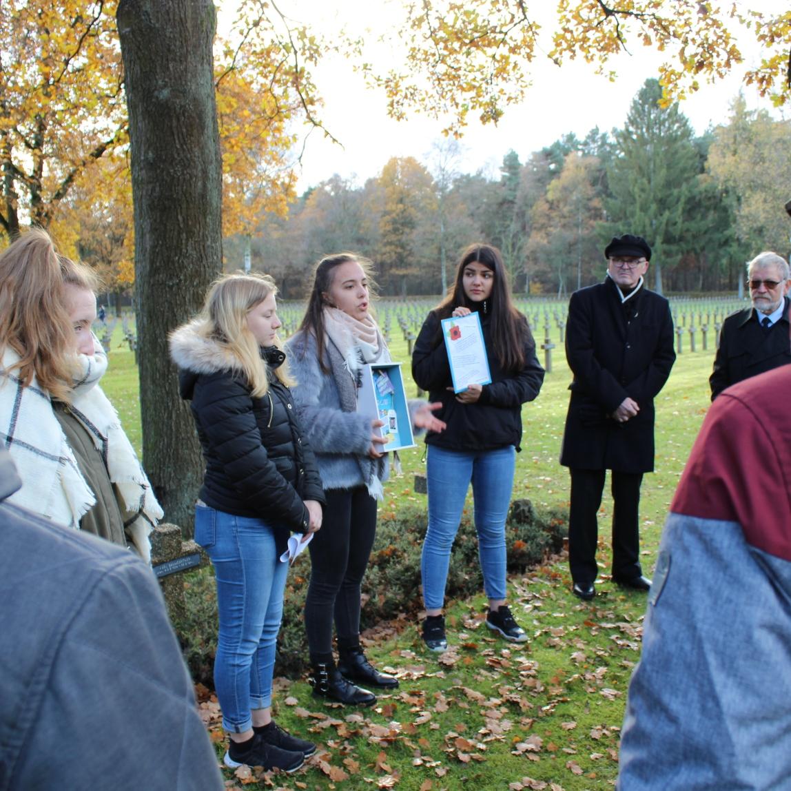 Presentation @ commemoration service Volkstrauertag